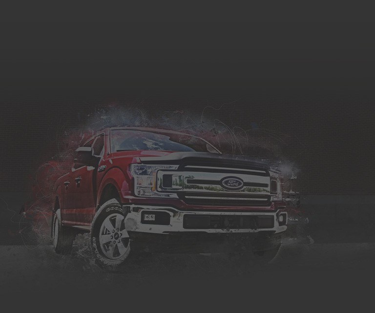 red Ford truck